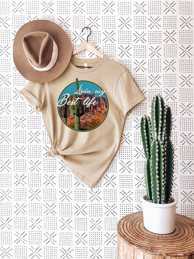 Livin' My Best Life Cactus Shirt