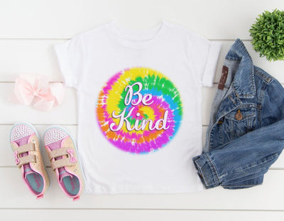 Be Kind Tie Dye Kid's Shirt