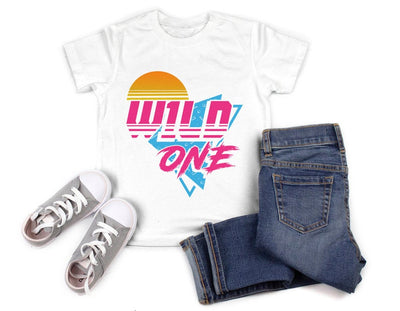 Wild One Retro Birthday Shirt