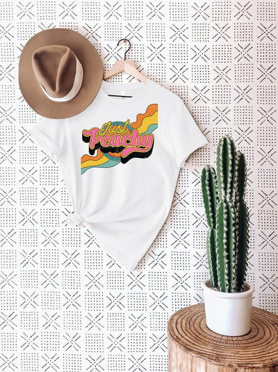 Just Peachy Electric Retro Shirt