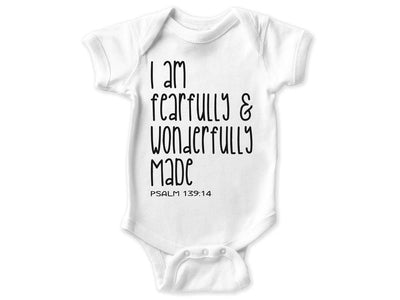 I Am Fearfully & Wonderfully Made Bodysuit