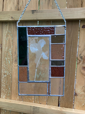Sweetpea Stained Glass Panel