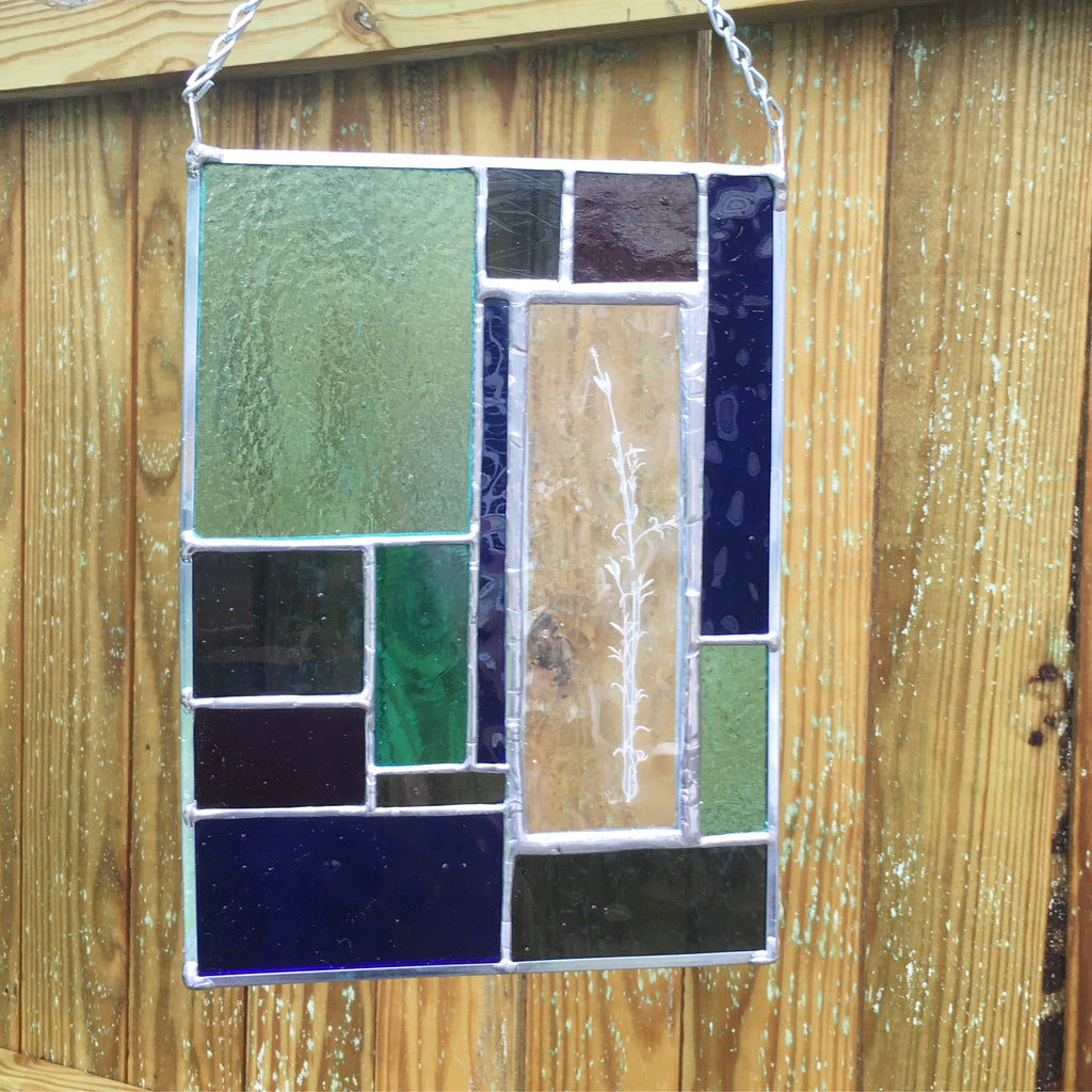 Thyme Stained Glass Panel