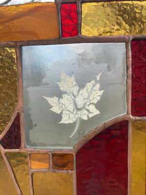 Maple Stained Glass Panel