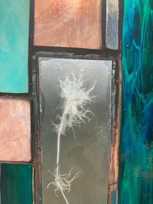 Nigella Stained Glass Panel