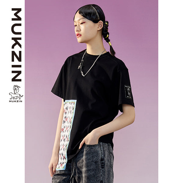 Mukzin Designer Brand Black T-Shirt -ADVENTURE IN SPACE