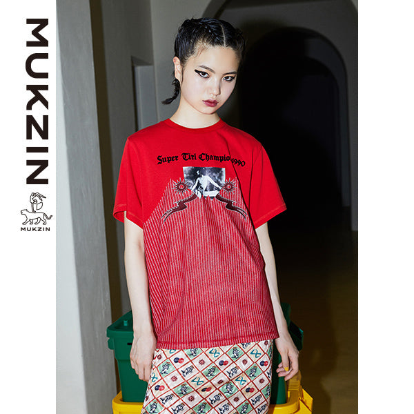 Mukzin Designer Brand Red Chic Style T-Shirt- New Youth
