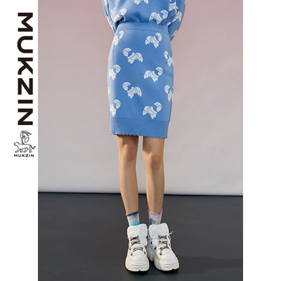 Mukzin Designer Brand Blue Sweater-ADVENTURE IN SPACE