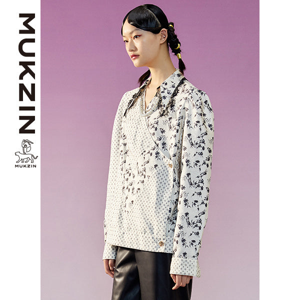 Mukzin Designer Brand White Mix Patterns Shirt-TALISMAN