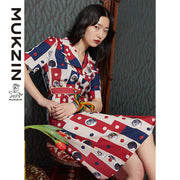 Mukzin Designer Brand Tiger Print Dress