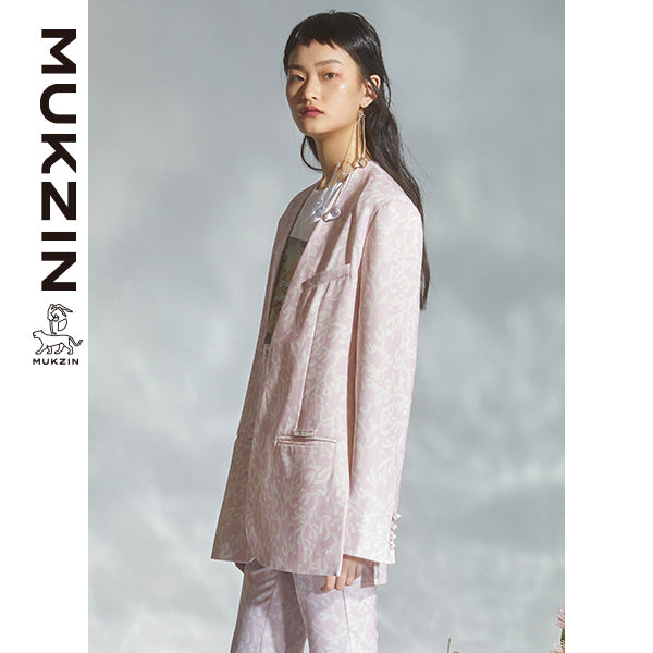 Mukzin Designer Brand Jacket With Coral Printed  - DRAGON SCALE PAVILION