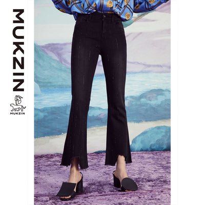 Mukzin Designer Brand Black high Waist Jeans - SPACE IN THE GOURD