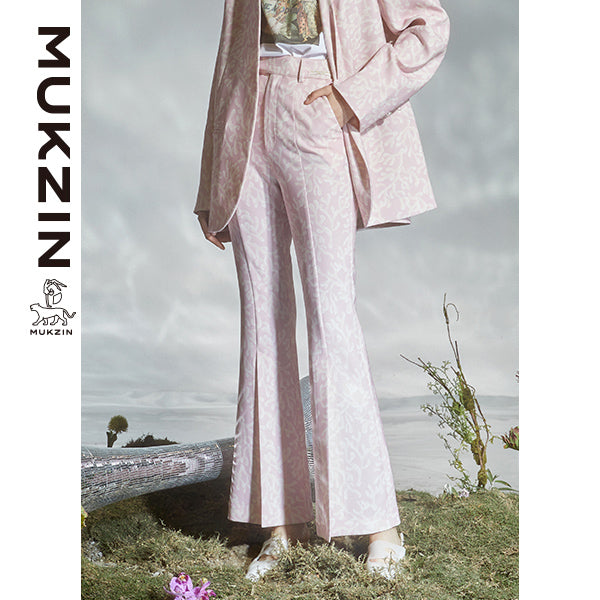 Mukzin Designer Brand Pants With Coral Printed  - DRAGON SCALE PAVILION
