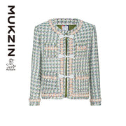 Mukzin Designer Brand Green and White chequering Coat-ADVENTURE IN SPACE