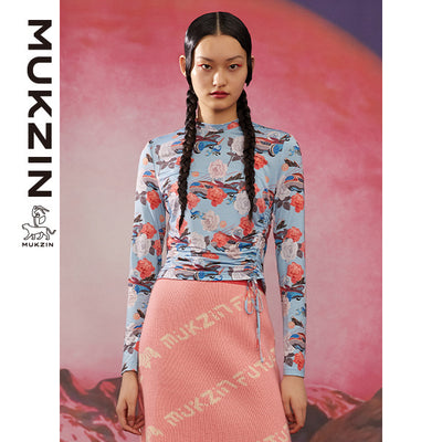 Mukzin Designer Brand Blue Bottoming Shirt-ADVENTURE IN SPACE