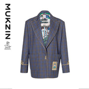 Mukzin Designer Brand Gray Jacket with Gourd Botton- SPACE IN THE GOURD
