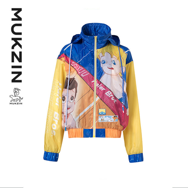 Mukzin Designer Brand X Haier Brothers Cartoon Characters Printed Sunscreen Jacket
