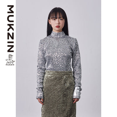 Mukzin Designer Brand Half-High Collar Shirt - SPACE IN THE GOURD
