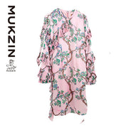 Mukzin Designer Brand Flora Long Sleeve Dress