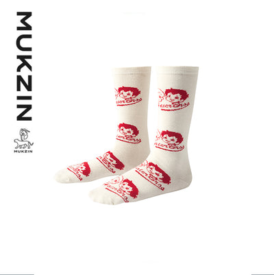 Mukzin Designer Brand X Haier Brother White Socks