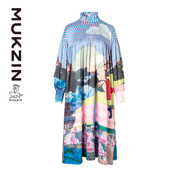 Mukzin Designer Brand Original Personalized Pattern Dress  - SPACE IN THE GOURD