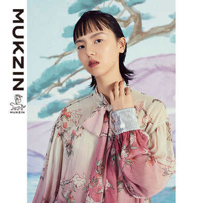 Mukzin Designer Brand Rabbit Printed Pink Shirt - SPACE IN THE GOURD