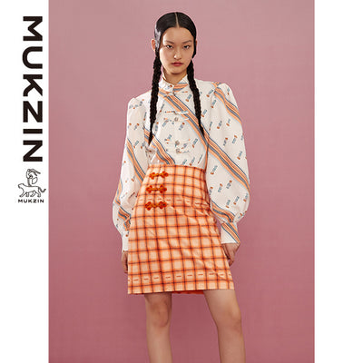 Mukzin Designer Brand Stripy Shirt-ADVENTURE IN SPACE