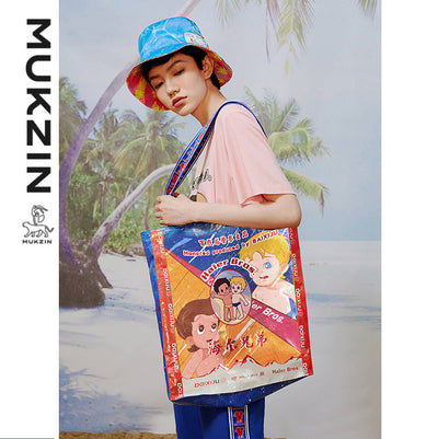 MUKZIN X HAIER BROTHERS Classic Cartoon Printing Tote Bag