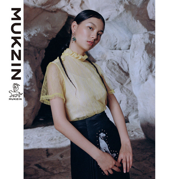 Mukzin Designer Brand Lace T-shirt - SPACE IN THE GOURD
