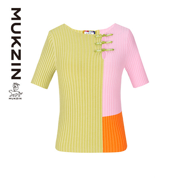Mukzin Designer Brand Color Crush T-Shirt with PANKOU- DRAGON SCALE PAVILION