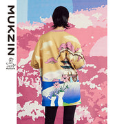 Mukzin Designer Brand Chinese Style Printed Shirt - SPACE IN THE GOURD