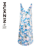 Mukzin Designer Brand V-neck Dress - SPACE IN THE GOURD