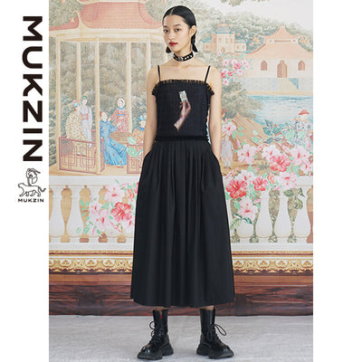 Mukzin Designer Black Tie-back Dress - ANIMAL DANCE