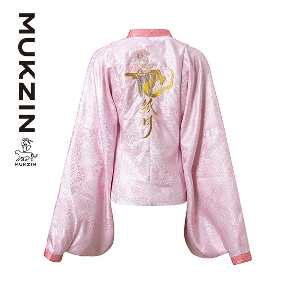 Mukzin Designer Brand Pink Top with Chinese Embroidery