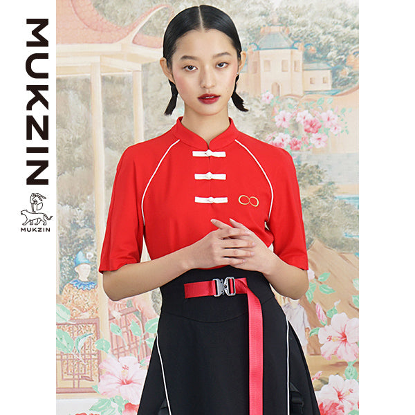 Mukzin Designer Red T-Shirt - ANIMAL DANCE