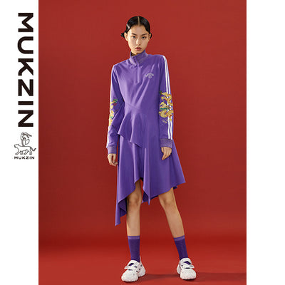 Mukzin Designer Brand Purple Dress- SPACE IN THE GOURD