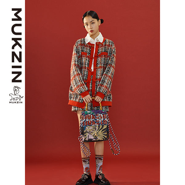 Mukzin Designer Brand Embroidery Casual Coat with 'PAN KOU' - SPACE IN THE GOURD
