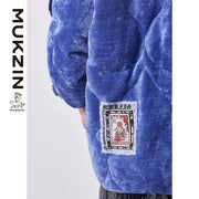 Mukzin Designer Brand Loose Printed Down Jacket - SPACE IN THE GOURD