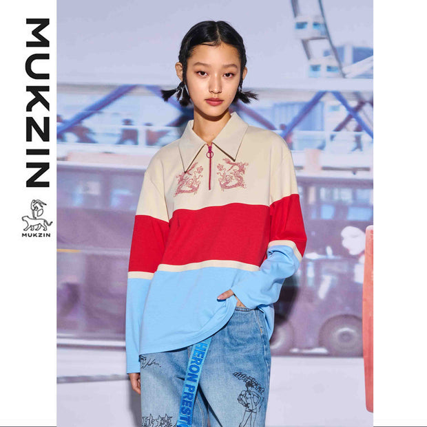 Mukzin Designer Brand Hong Kong Style Contrast Color Hoodie -KOWLOON