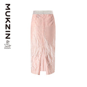 Mukzin Designer Brand Embroidery Silky Skirt - SPACE IN THE GOURD
