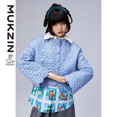 Mukzin Designer Brand Blue Jacket--ADVENTURE IN SPACE