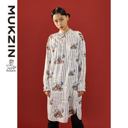 Mukzin Designer Brand Printed Cheongsam With PAN KOU- SPACE IN THE GOURD