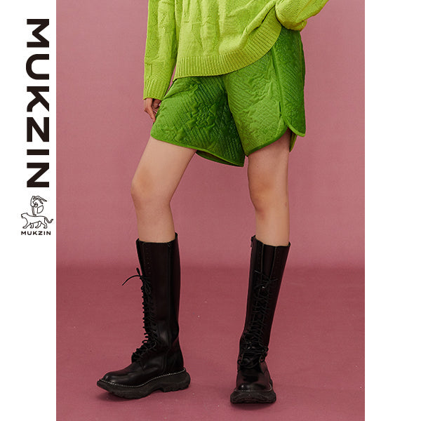 Mukzin Designer Brand Green Shorts-ADVENTURE IN SPACE-ADVENTURE IN SPACE