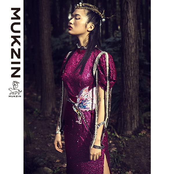 Mukzin Designer Brand Runway Edition Sequin Dress