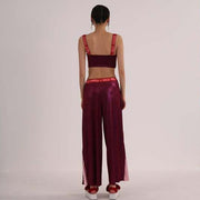 Mukzin Runway Show Printing Stitching Women Loose Wide Pants - The Theater of Mao'er