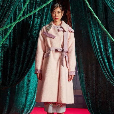 Mukzin Embroidered Long Loose Bandage Women Woolen Coat - The Theater of Mao'er