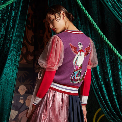 Mukzin Designer Brand Embroidery Women Color Sweater - The Theater of Mao'er