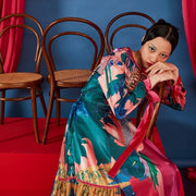 Mukzin Designer Brand Chinese Style Pattern Women Color Dress - The Theater of Mao'er