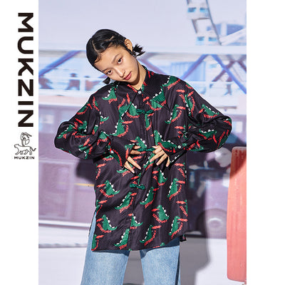 Mukzin Designer Brand Cartoon Character Print Shirt - MONSTER SWEETHEART