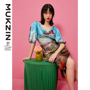 Mukzin Designer Brand Chinese Style New 3D Tailored Dress- DAAN
